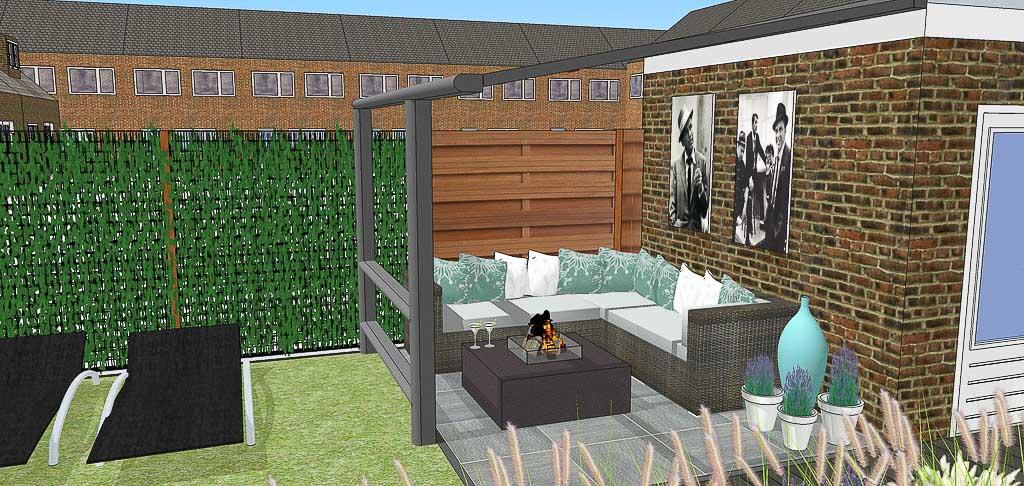 Tuintrend 2015 lounge barhippetuinen tuinontwerp adviesbureau - Moderne hoek lounge ...