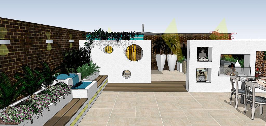 Tuinontwerp amsterdamhippetuinen tuinontwerp adviesbureau - Moderne lounge stijl ...