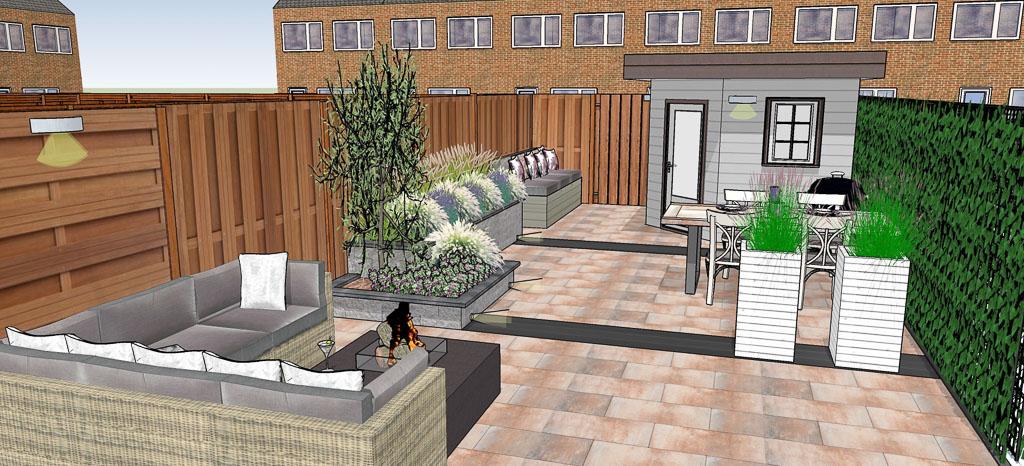 Tuinontwerp capelle aan den ijsselhippetuinen tuinontwerp for 3d tuin ontwerpen